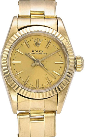 ROLEX OYSTER  R 67198 YELLOW GOLD  FULL SET - Johny Watches