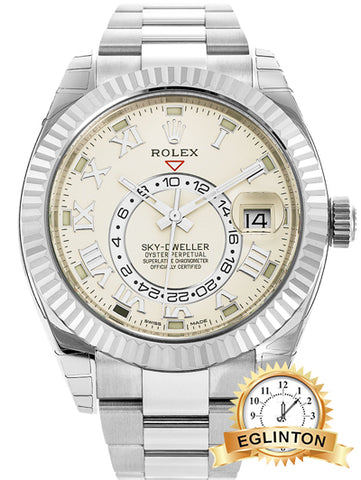 ROLEX SKY-DWELLER 326939 White Gold with White Dial - Johny Watches - New and used Rolex watches in toronto