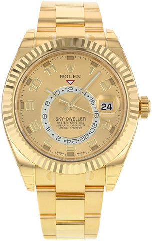 Rolex Sky Dweller 18K Yellow Gold Mens watch 326938 - Johny Watches - New and used Rolex watches in toronto