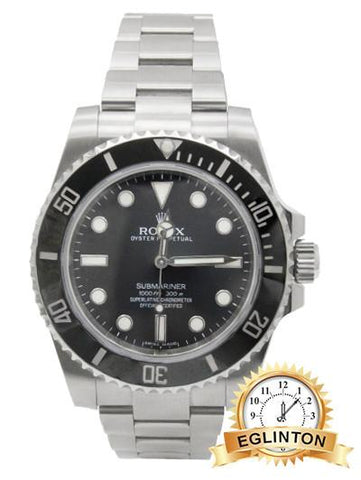 Rolex SUBMARINER NO DATE CERAMIC 114060 2017 - Johny Watches - New and used Rolex watches in toronto