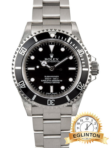 Rolex Steel Submariner 14060M 4 liner, Rehaut Engraved 2011 - Johny Watches - New and used Rolex watches in toronto