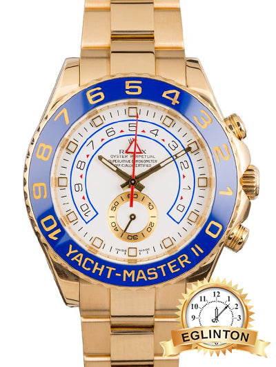 ROLEX 18K YELLOW GOLD YACHTMASTER II MODEL 116688 - Johny Watches - New and used Rolex watches in toronto