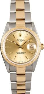 Rolex Oyster Perpetual Date 15223 Champagne - Johny Watches
