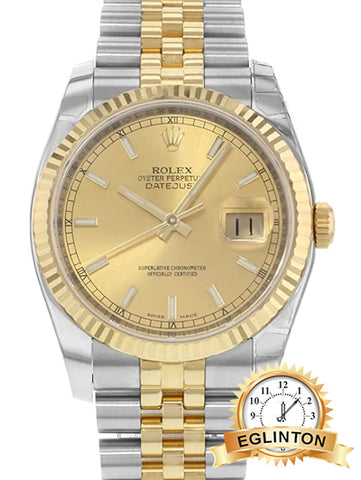 Rolex Datejust 116233 CHSJ Steel & 18K Yellow Gold Automatic Men's Watch - Johny Watches