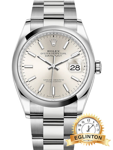 Rolex Datejust 36 Silver Dial Automatic Men's Watch 126200