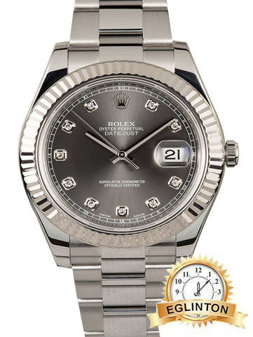 ROLEX DATEJUST II 116334 RHODIUM DIAMOND - Johny Watches - New and used Rolex watches in toronto