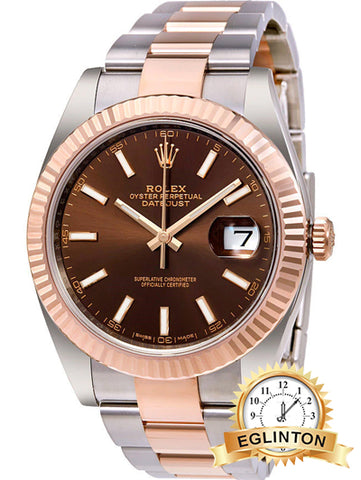 Rolex Datejust 41 126331 Chocolate - Johny Watches - New and used Rolex watches in toronto