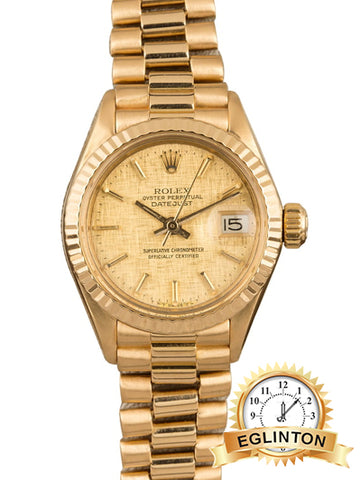 ROLEX LADY DATEJUST 6917 Yellow Gold - Johny Watches