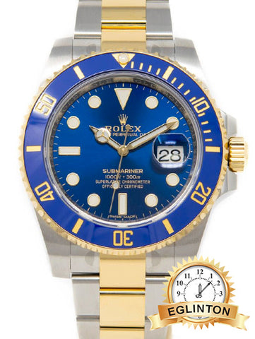 ROLEX SUBMARINER Two Tone Blue 116613LB - Johny Watches - New and used Rolex watches in toronto