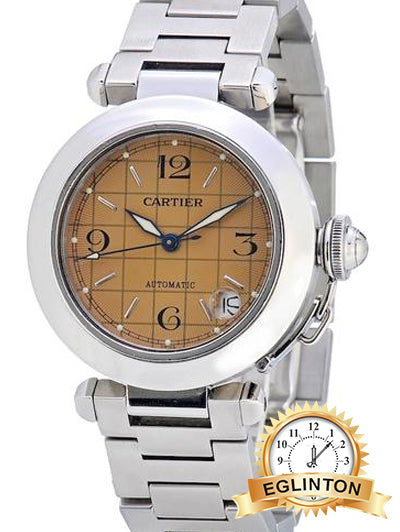 Cartier Stainless Steel Pasha De 35 Mm Pink Salmon Dial Bracelet Ladies 2324 Watch - Johny Watches - New and used Rolex watches in toronto