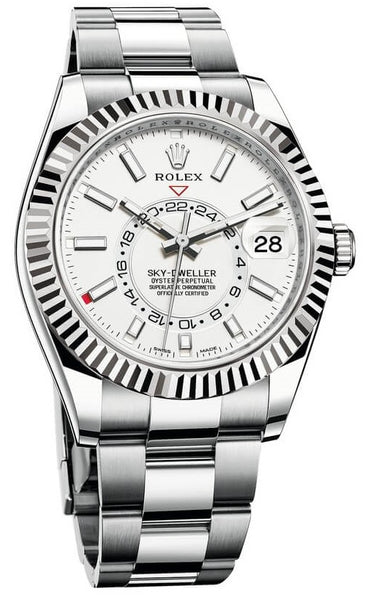 Rolex SKY-DWELLER Steel and White Gold 42mm Box and Paper
