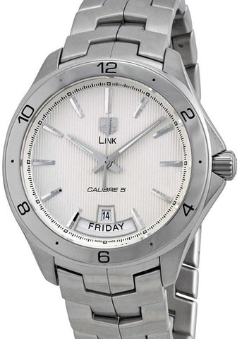 TAG HEUER Link Silver Dial Stainless Steel Automatic Men's Watch - Johny Watches