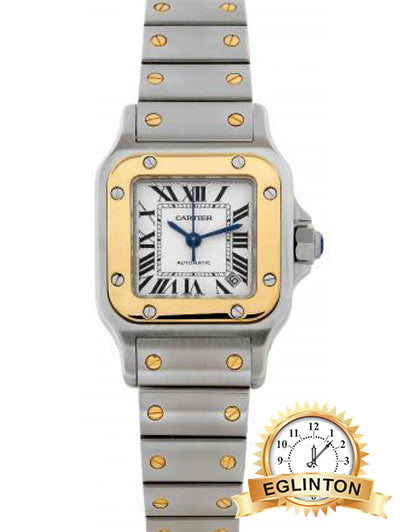 Cartier, Santos, Automatic, Ref. 2423 Two Tone - Johny Watches - New and used Rolex watches in toronto