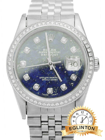 Rolex 36mm DateJust Diamond Jubilee Watch Diamond Blue Dial - Johny Watches - New and used Rolex watches in toronto