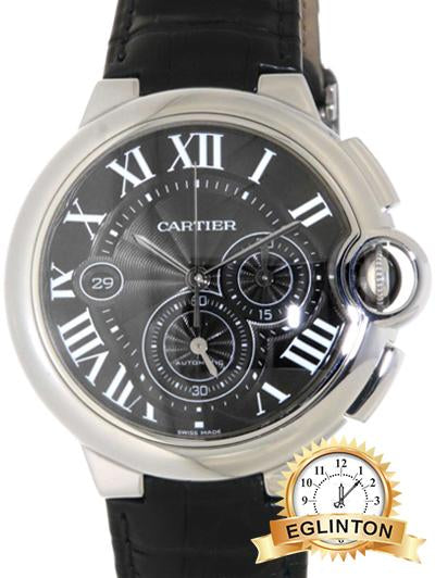 Cartier W6920052 Ballon Bleu XL Chronograph Auto Men's Leather Watch - Johny Watches - New and used Rolex watches in toronto