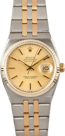ROLEX OYSTER QUARTZ CHAMPAGNE 17013 - Johny Watches - New and used Rolex watches in toronto