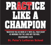 Practice Like a Champion - performance hoodie