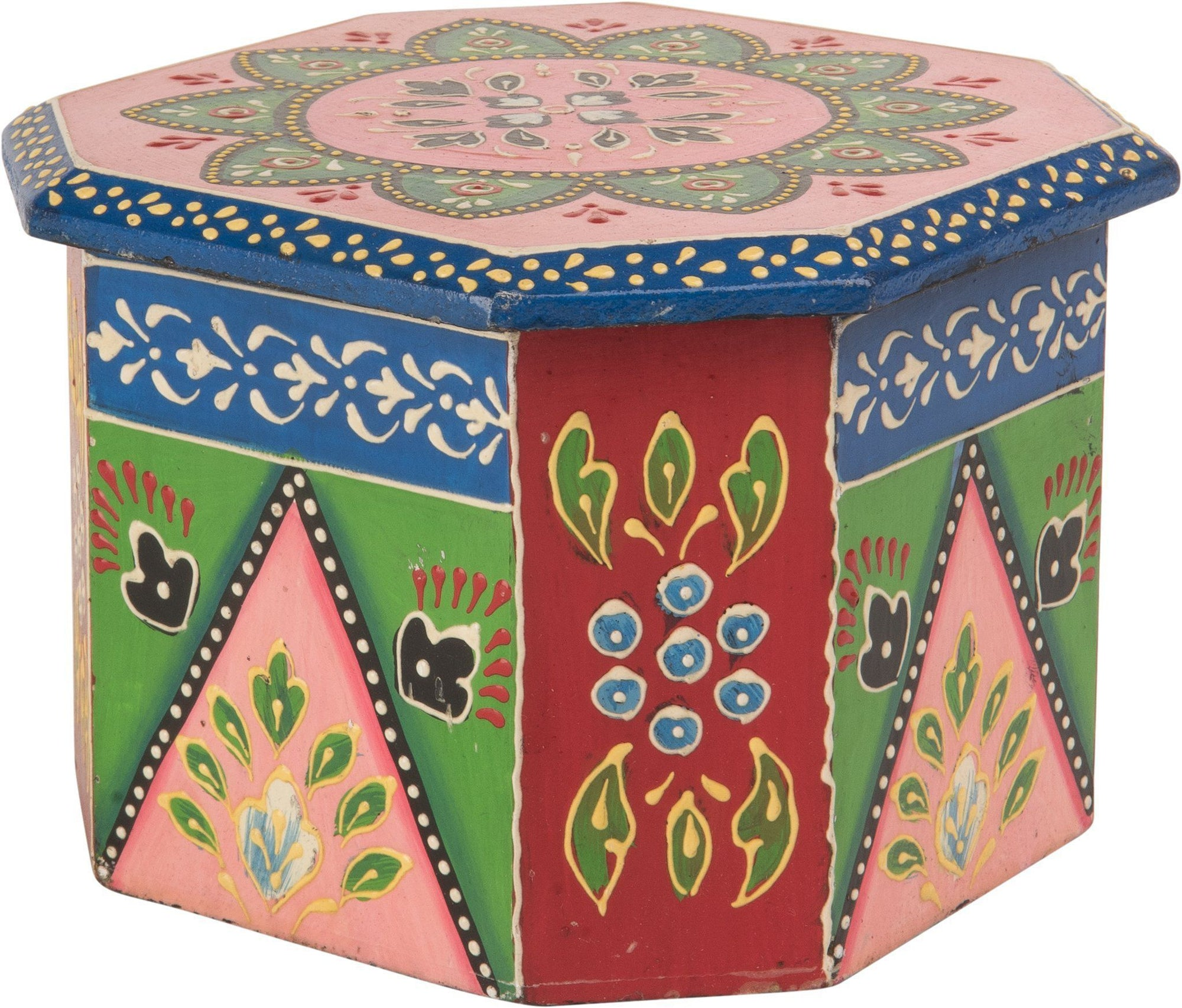 Ian Snow Ltd Octagonal Hand Painted Wooden Box