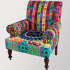 Ian Snow Ltd Embroidered Nishi Cotton Armchair