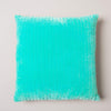 Ian Snow Ltd Velvet Cushion with Gudri Work in Aqua Marine