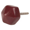 Ian Snow Ltd Burgundy Hexagonal Ceramic Door Knob