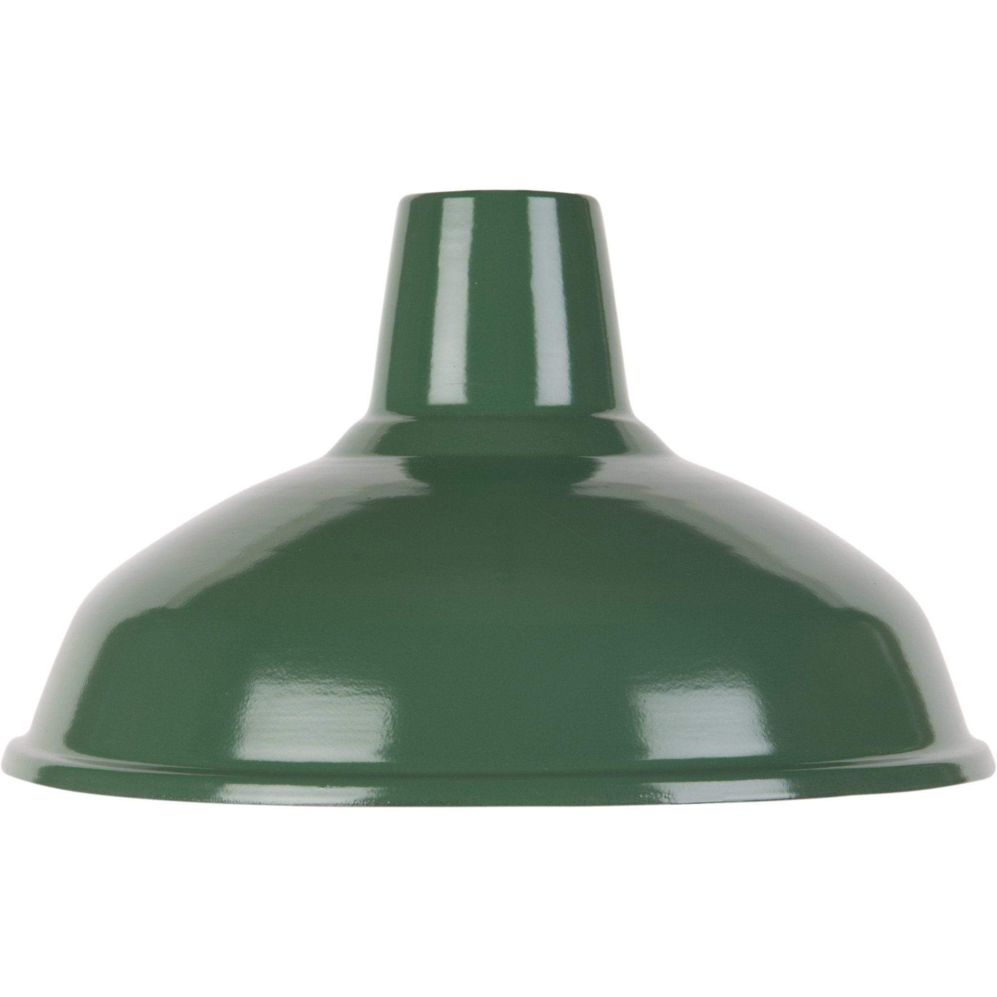 Ian Snow Ltd Green Large Enamel Lampshade