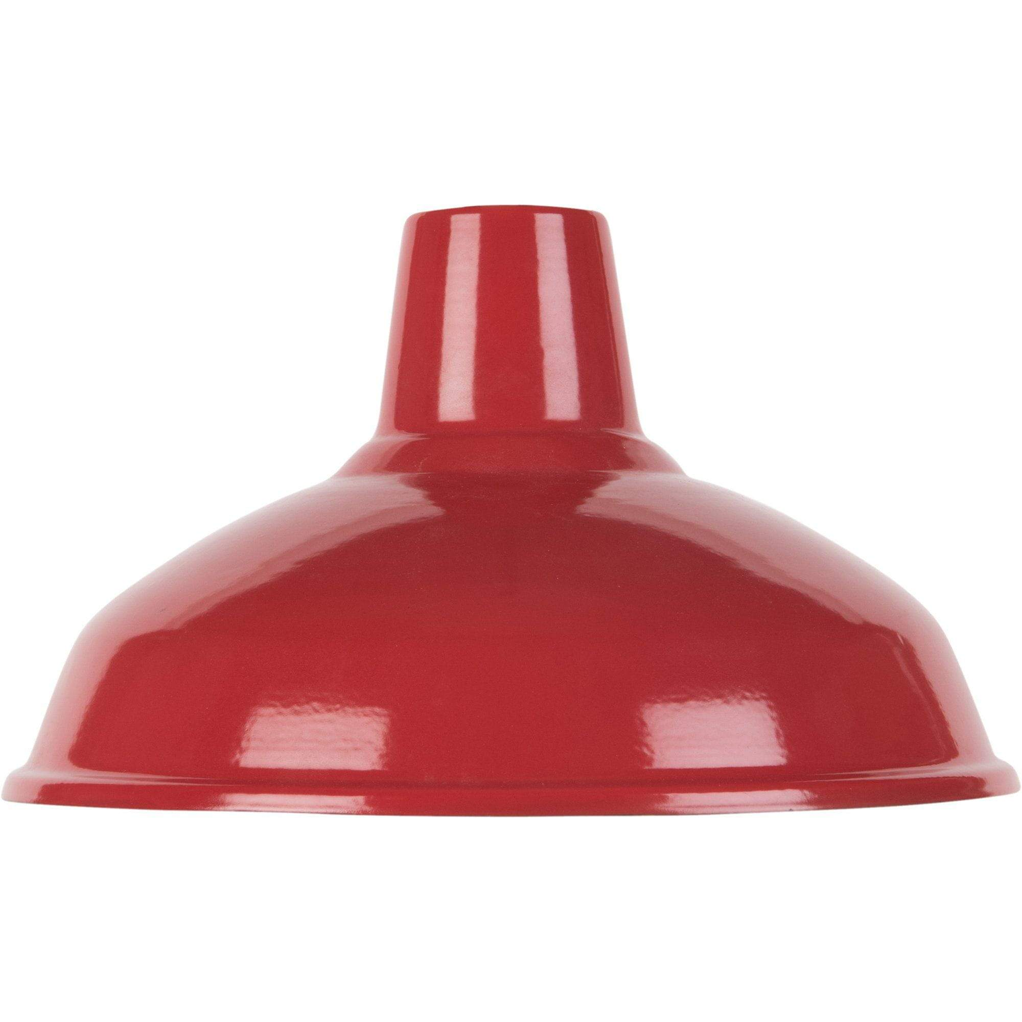 Ian Snow Ltd Red Large Enamel Lampshade