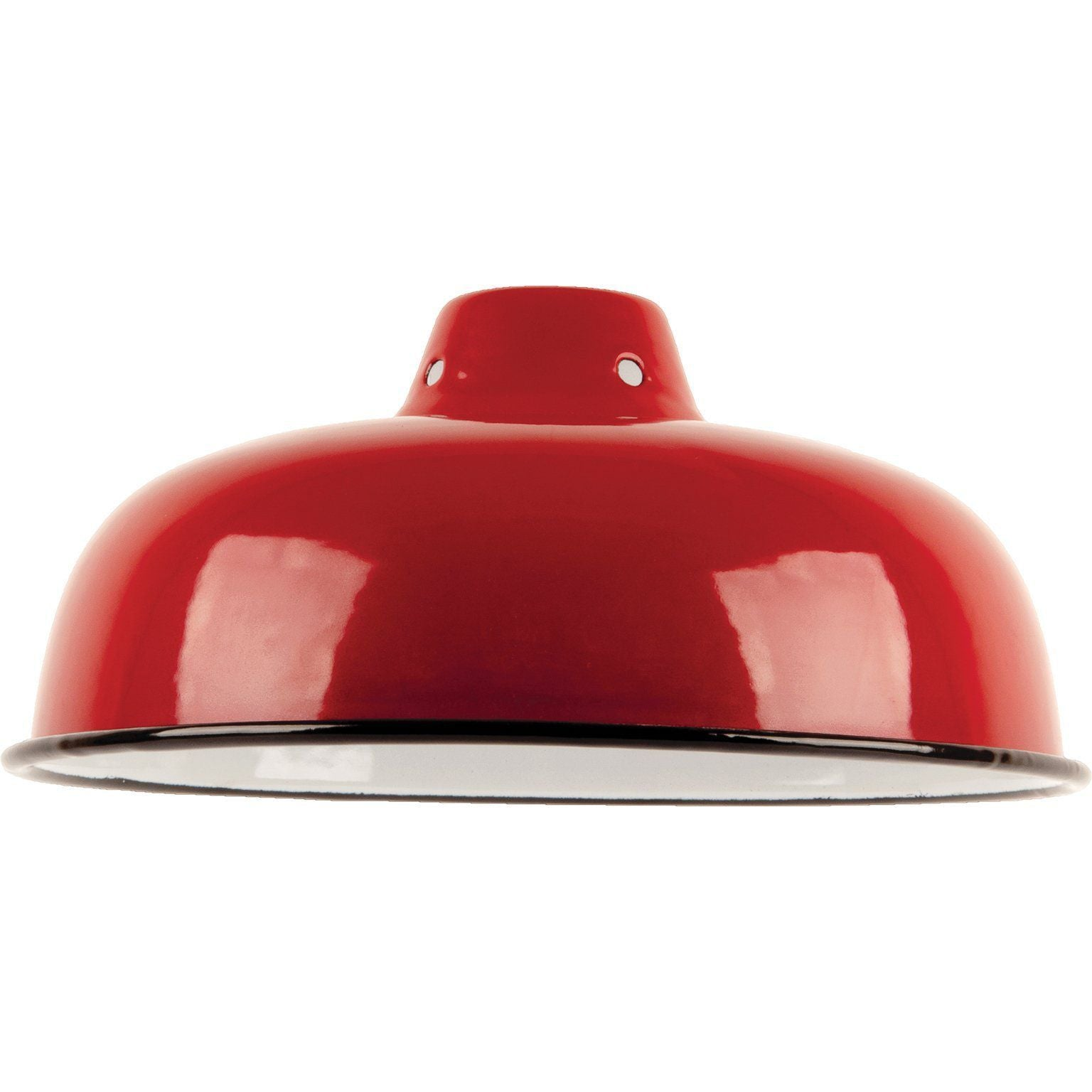 Ian Snow Ltd Red Medium Enamel Lampshade
