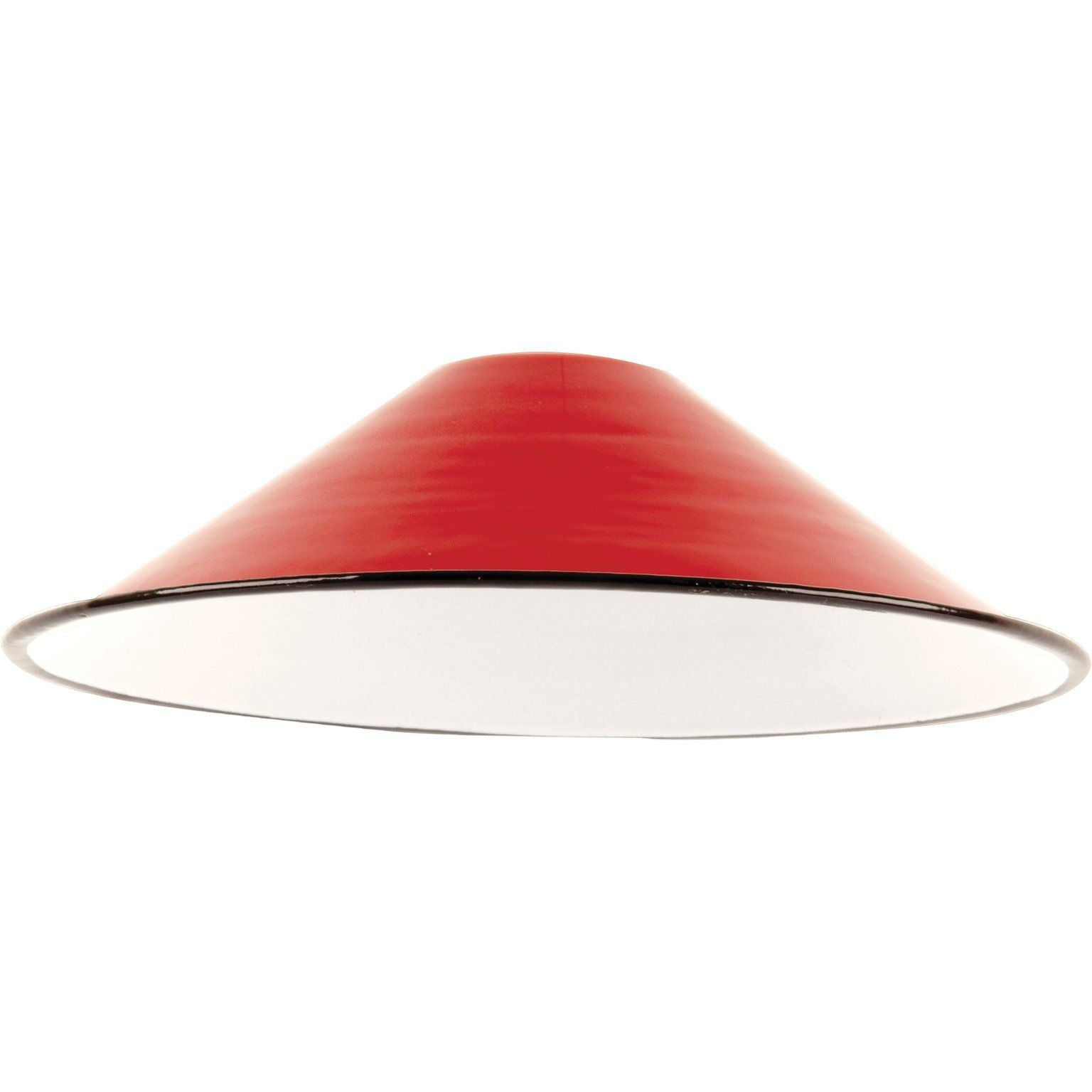 Ian Snow Ltd Red Small Enamel Lampshade