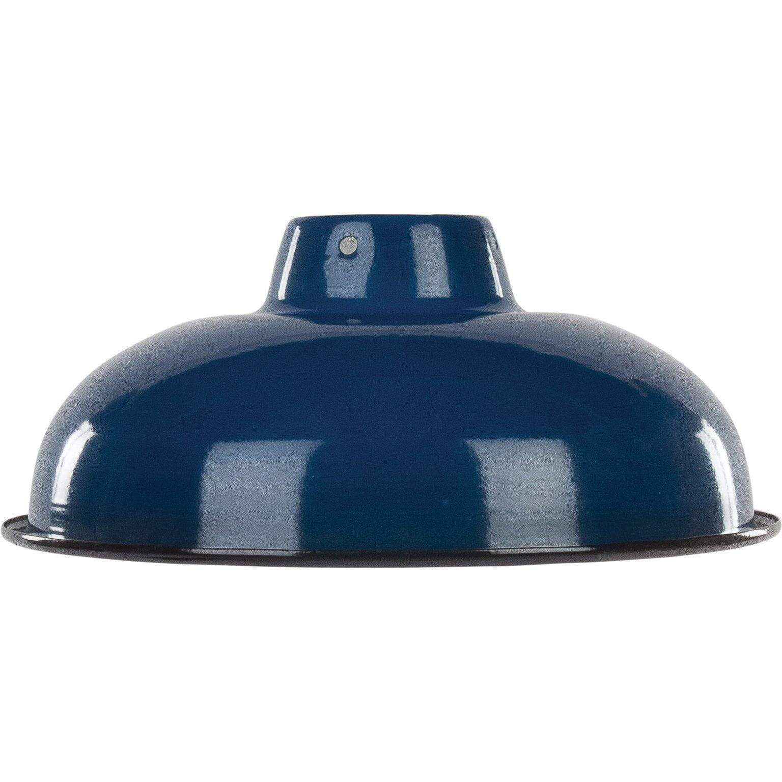 Ian Snow Ltd Royal Blue Medium Enamel Lampshade