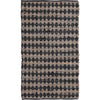 Ian Snow Ltd Black Chindi & Jute Diamond Chequered Rug