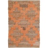 Ian Snow Ltd Jute & Chindi Diamond Peach Weave Rug