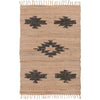 Ian Snow Ltd Jute & Chindi Grey Leather Diamond Weave Rug