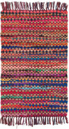 Ian Snow Ltd Multi Colour Jute & Upcycled Chindi Slub Rag Rug