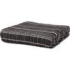 Ian Snow Ltd Black Heavy Woven Throw