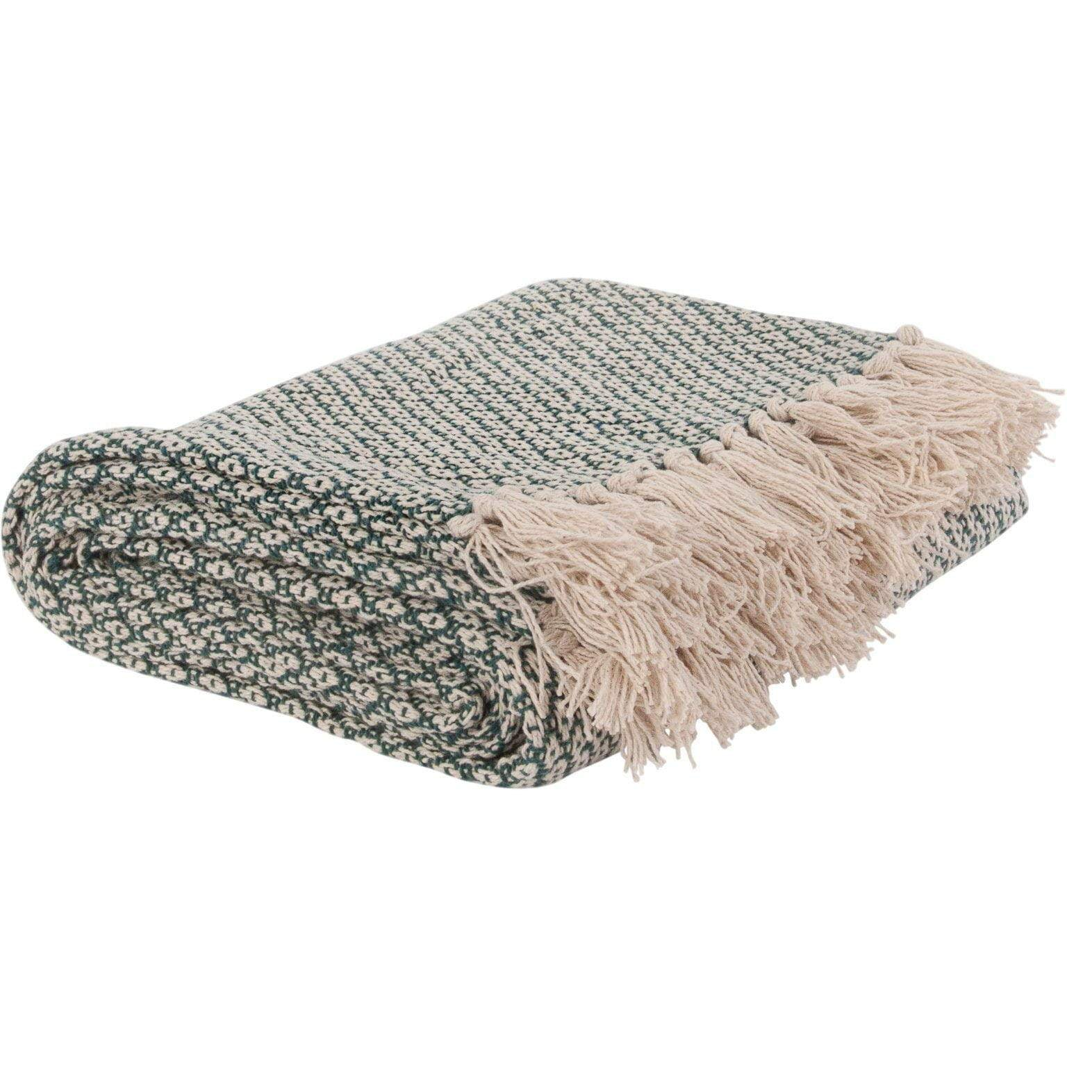Ian Snow Ltd Jade Cotton Diamond Weave Throw