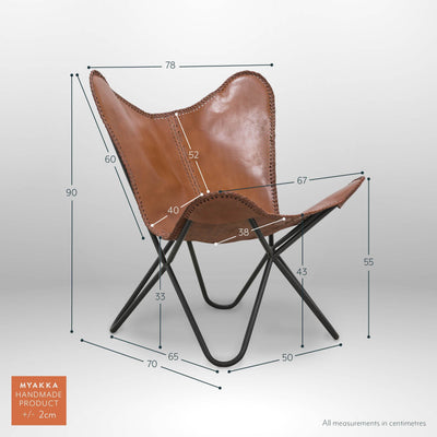 MYAKKA Butterfly Chair - Buffalo Leather