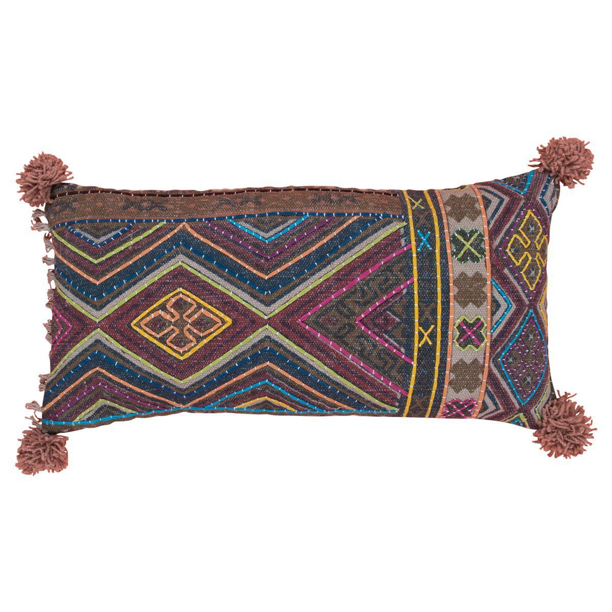 MYAKKA Diamond Printed Cotton Cushion