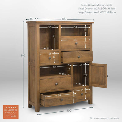 MYAKKA Sundaya Asymmetric Storage Unit