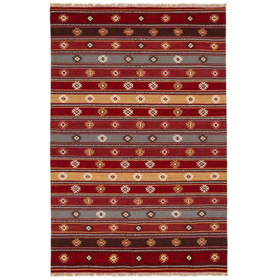 MYAKKA Red Tribal Kilim Rug Extra Large