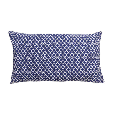 MYAKKA Hadlee Velvet & Cotton Cushion Navy / Filled