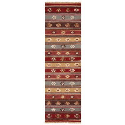 MYAKKA Red Tribal Kilim Runner