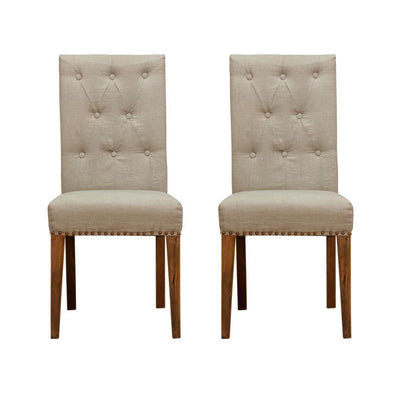MYAKKA Linen Upholstered Chair Single