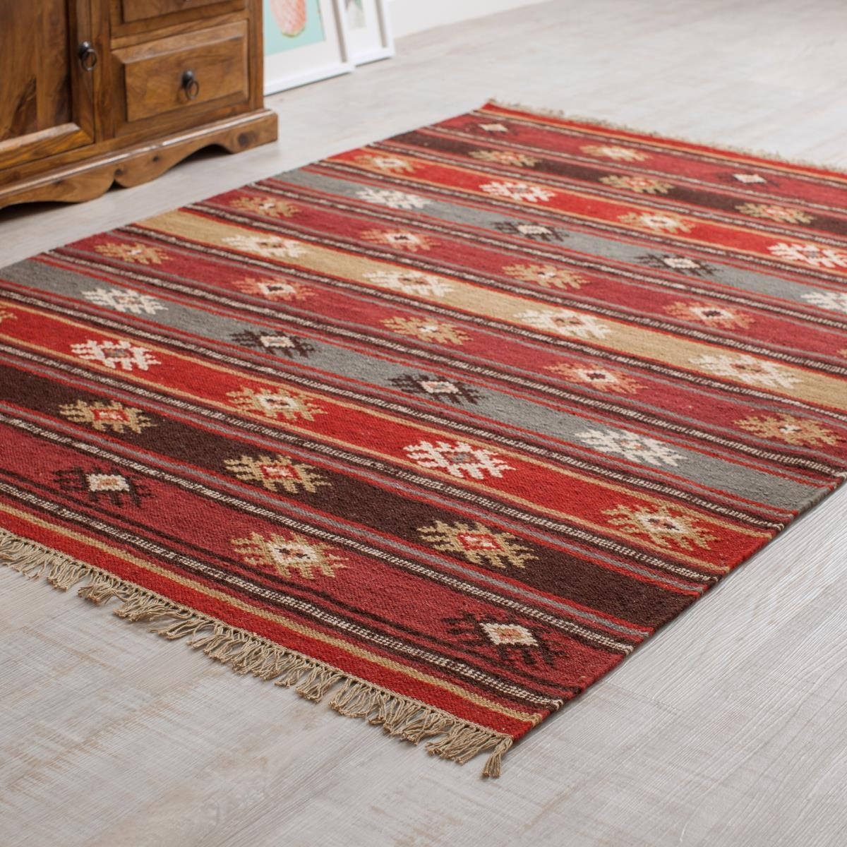 MYAKKA Red Tribal Kilim Rug Small