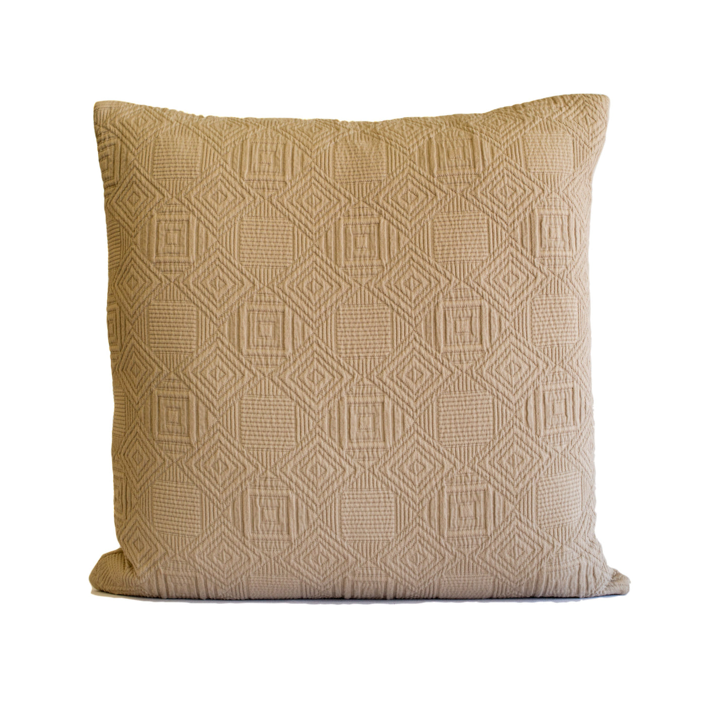 Putty Quilted Pillow