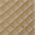 Quilted Velvet Coverlet in Cream