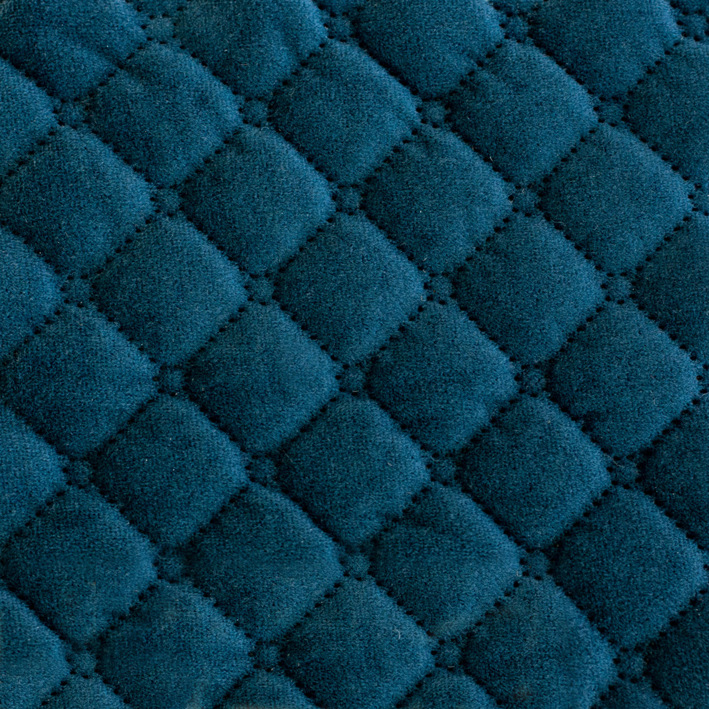 Quilted Velvet Coverlet in Blue