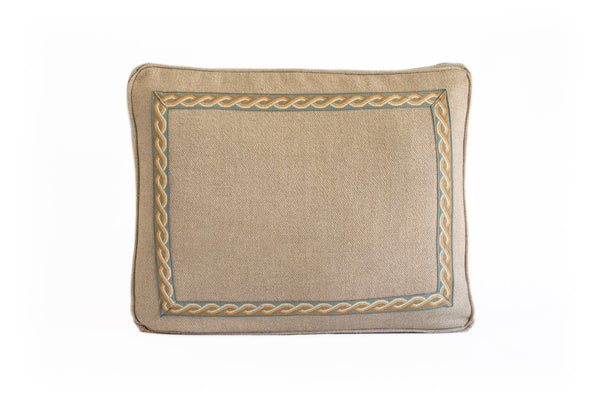Boxed Standard Pillow Natural with Spa and Gold Tape