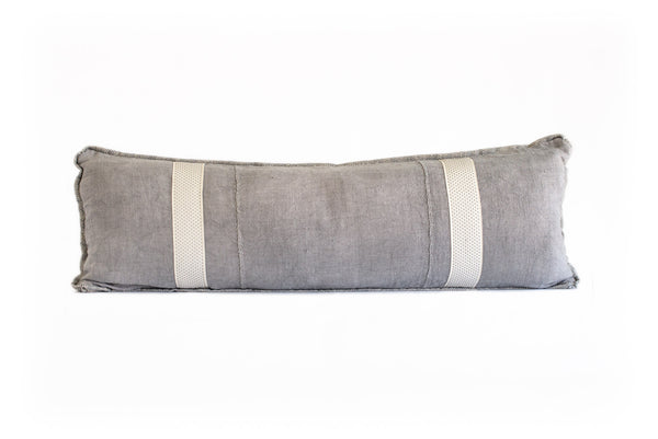 Vintage Gray Linen with Gray Tape