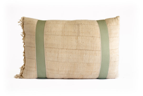 Vintage African Mudcloth with Green Tape